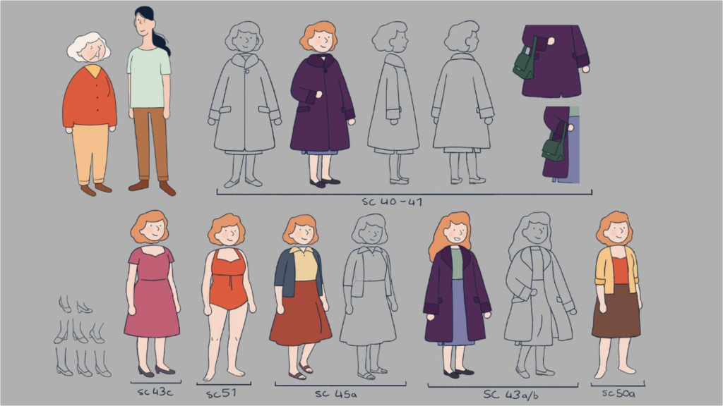 Figure 12.25 Late Afternoon: costume sheet ( © 2017 Cartoon Saloon).