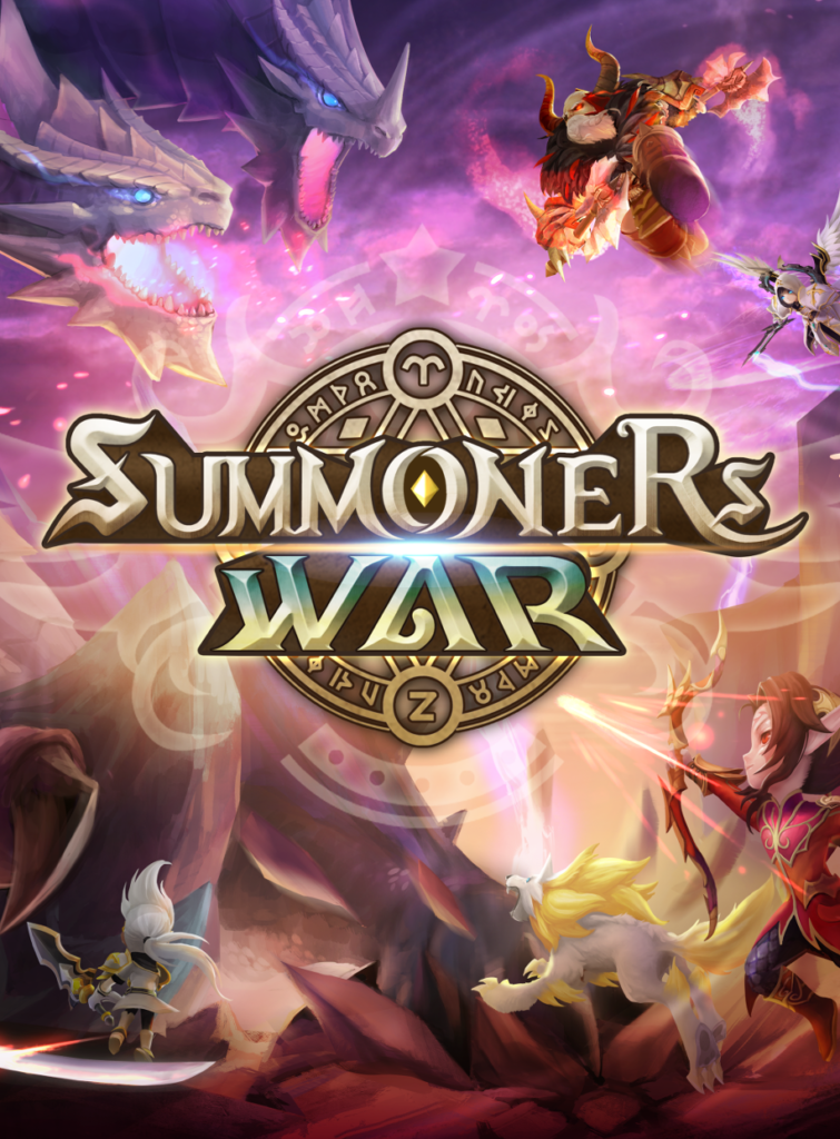 Figure 5.6 Summoners War: splash screen (Com2uS 2018).